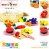 木玩世家供应木制益智玩具  水果篮