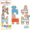 木玩世家供应木制益智玩具   小动物积木