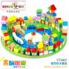 木玩世家供应木制益智玩具   城市积木套装