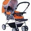 多功能双向婴儿手推车\婴儿车(橙色)