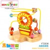木玩世家供应木制益智玩具    太阳花串珠