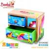 木制益智儿童玩具   原木收纳箱