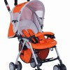 G306两次拆叠带肩带轻便型婴儿手推车/童车(桔色)