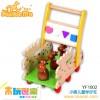 木制益智儿童玩具    小鹿儿童学步车