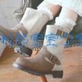 外贸童鞋批发 冷毡鞋批发 童靴924米色(图)