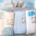 供应雅培品牌妇婴用品 双面毛巾洗脸巾三条装婴儿沐浴