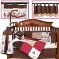 贝尔兰婴儿床品,麂皮绒床品十件套送床铃9913-1