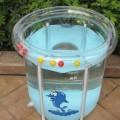 台湾奥比09新款全透明婴儿游泳池 73*75cm
