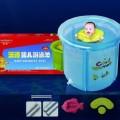 漫谱2010年最新版蓝色透明婴儿游泳池 外置水龙头