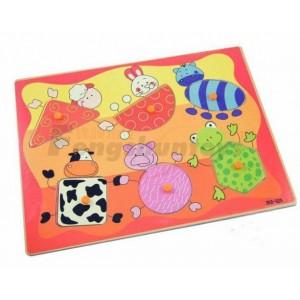 锋顺木制玩具批发/拼图玩具/儿童益智认知/婴童教具/动物几何