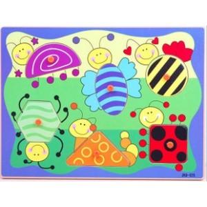锋顺玩具批发商城/益智拼图/颜色形状认知/儿童教材/昆虫几何