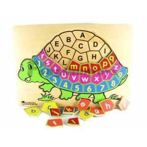 木制玩具批发\益智婴童玩具\英文字母认知\上课教具\字母乌龟