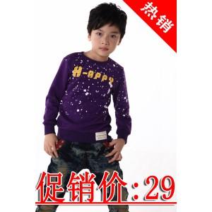 樱之果童装四季青童装连帽卫衣批发十三行儿童t恤特价促销