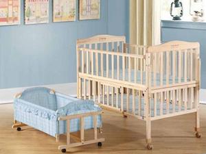 笑巴喜实木无漆婴儿床 给宝宝最好的呵护
