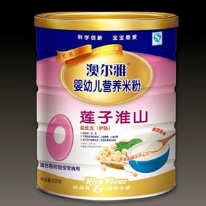 澳尔雅婴幼儿(护肠)营养米粉-莲子淮山0段