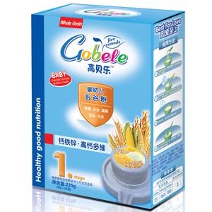 高贝乐五谷粉1段:钙铁锌·高钙多维(盒装)全国招商