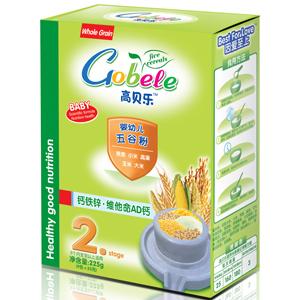 高贝乐五谷粉2段:钙铁锌·维他命AD钙(盒装)全国招商