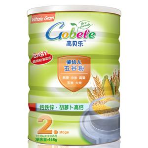 高贝乐五谷粉2段钙铁锌·胡萝卜高钙(听装)全国招商