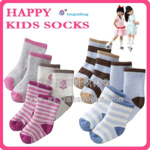 外贸宝宝毛圈袜 全棉冬天加厚保暖袜宝宝毛巾袜