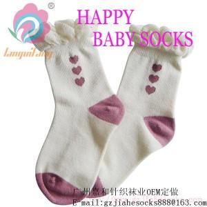 广州精品泡泡罗口公主儿童袜交易--广州卡通儿童袜厂