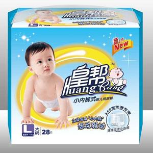 皇帮L码小内裤式婴儿纸尿裤
