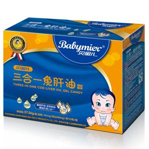 贝蜜儿三合一鱼肝油软胶丸(凝胶糖果)