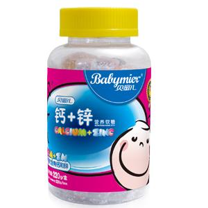 贝蜜儿钙+锌营养软糖(卡通瓶装)