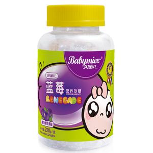 贝蜜儿蓝莓营养软糖(卡通瓶装)