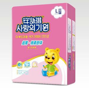 安语琪超级薄棉柔舒体婴儿纸尿裤L