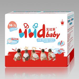 无忧草高级婴儿纸尿裤L码16PCS