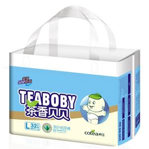 柯佳B1超强劲吸茶叶纸尿裤L32片
