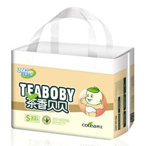 柯佳A2全柔环抱360º茶叶纸尿裤S32片
