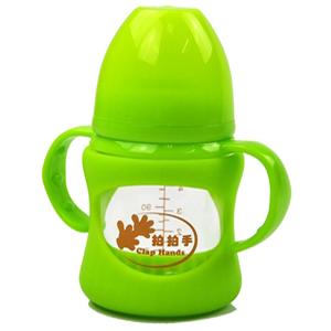 拍拍手防摔玻璃奶瓶LCF-201331绿色