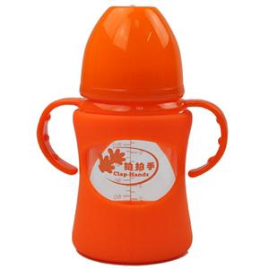 拍拍手防摔玻璃奶瓶LCF-201331红色