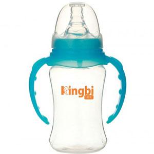 健贝双耳自动吸带手柄奶瓶150ML