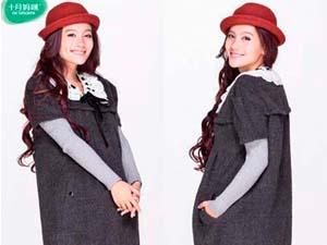 十月妈咪孕妇装时尚蕾丝连衣裙 完美搭配显气质