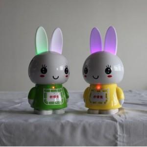 最新版遥控柠檬兔儿童故事机批发 儿童益智玩具可diy