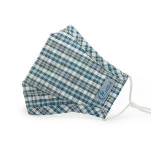 绿精灵蓝色格子防霾抗菌口罩