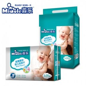 淼乐超薄柔软婴儿纸尿片中M码36片 5-11公斤的宝宝适用