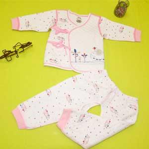 小印象斜襟开档套装婴儿内衣招商