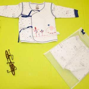 小印象冬款斜襟开档套装婴儿内衣招商