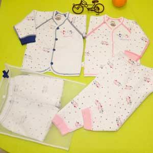 小印象冬款对开襟两用档套装婴儿内衣招商