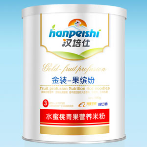 汉培仕水蜜桃青果营养米粉全国招商