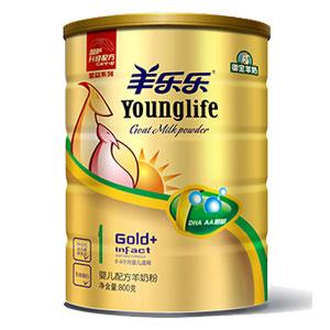 羊乐乐金益系列婴儿配方羊奶粉 800g 1段