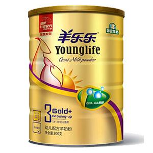 羊乐乐金益系列幼儿配方羊奶粉 800g 3段