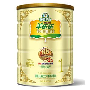 羊乐乐双益婴儿配方羊奶粉 800g 1段