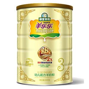 羊乐乐双益幼儿配方羊奶粉 800g 3段