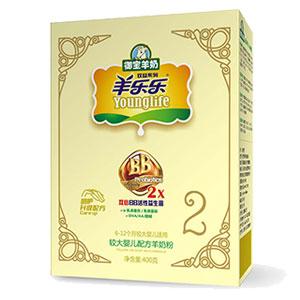 羊乐乐双益较大婴儿配方羊奶粉 400g 2段