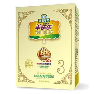 羊乐乐双益幼儿配方羊奶粉 400g 3段
