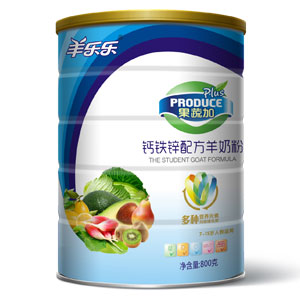 果蔬加钙铁锌配方羊奶粉 800g